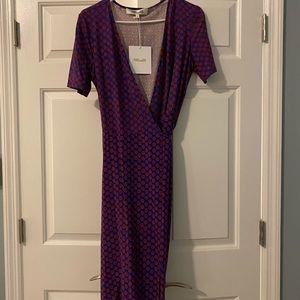 NWT silk wrap dress!
